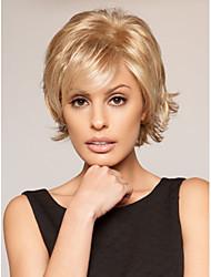 topkwaliteit blonde kleur kort krullend synthetische pruiken