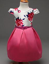 Robe Fille de Imprimé Soirée / Cocktail Polyester Eté / Printemps / Automne Rose / Rouge