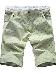 Summer fashion casual pants men fashion shorts stamp cotton pants size loose youth slim pants five
