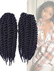 Спиральные плетенки Гавана Сенегал Box плетенки Вязаные Kanekalon Черный как смоль Черный Темно-коричневый Наращивание волос45 см 51 см