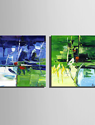 Mini Size E-HOME Oil painting Modern Abstract Pond Scenery Pure Hand Draw Frameless Decorative Painting