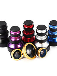 5 en 1 grand angle universel 0,65 + 10 × macro / 180 ° fish-eye + 15 × macro / super large 0,4 ×