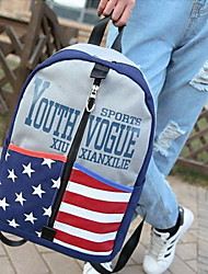 Fashion Unisex Canvas / Polyester Weekend Bag Backpack / Sports & Leisure Bag / School Bag / Travel Bag-Multi-color