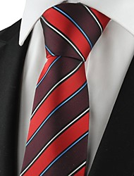 New Striped Red Mens Tie Formal Suits Necktie Party Wedding Holiday Gift KT1080