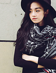 Winter Women Classic Pinted Cotton With Tassel Warm Scarf Female Shawl