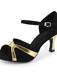 Sapatos de Dança(Ouro Preto) -Feminino-Personalizável-Latina