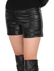 Women Lambskin Shorts Pants , Belt Not Included