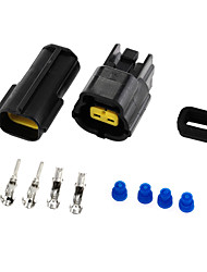 2 Set 2 Pin Connectors Waterproof Cable Connector Plug Electric Car