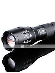 LED Flashlights/Torch LED 3000 Lumens 5 Mode Cree XM-L2 1 x 18650 Battery Adjustable Focus Impact Resistant Nonslip grip Rechargeable
