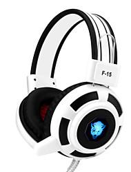 yoro f15 ruído jogo auricular estéreo com microfone cancelando& controle de volume LED para pc / notebook / laptop