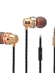 abingo s500i Metall Ohr- Bass Kopfhörer Stereo Handy-Headset mit Mikrofon für Smartphone