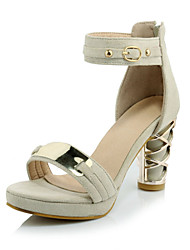 Women's Shoes  Chunky Heel Heels / Platform / Open Toe Sandals Office & Career / Dress / Casual Black / Gray / Beige