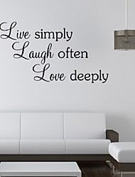 Live Simply Wall Stickers Removable Decorative Creative Home Decals Adesivo De Parede Wallpapers