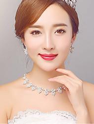 Rhinestone/Imitation Pearl / Alloy / Rhinestone Jewelry Set with Earings