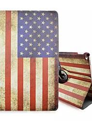 novidade design especial a bandeira americana pu couro caso folio coldre 360⁰ caso para ipad pro