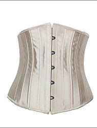 Burvogue Women's Champagne Bridal Spiral 24 Steel Boned Waist Training Corset Waist Cincher