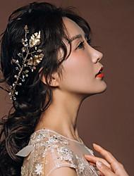 Bride's Leaves Shape Foehead Wedding Tiaras Headbands Accessories 1 Piece