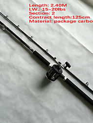 Boat Rod 2.4 M Sea Fishing / Bait Casting / Jigging Fishing / Trolling & Big boat fishing rod Boat rod fishing rod