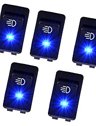 5Pcs 12V 35A Universal Car Fog Light Rocker Switch LED Dash Dashboard 4Pin Sales