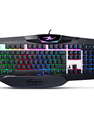 UX K21 USB Wired Suspenped Keycap Rainbow Backlit Ergonomic Gaming Keyboard