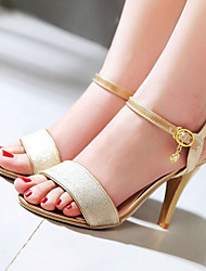 Women's Shoes Glitter/Stiletto Heels/Sling back/Open Toe Sandals Party & Evening/Dress Pink/Silver/Gold