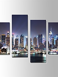 U2art®Landscape Canvas Print Scenery 4 Panels Ready to Hang , Vertical For Living Room with Cotton Drawing(No Frame)