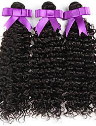 4pcs mucho sin procesar onda de agua cruda peruano profunda virginal del pelo rizado de las tramas del color natural remy haces de la