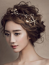 Women's Gold Seafish Headband Forehead Hair Jewelry for Wedding Party