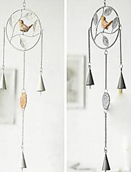 Ou, Wrought Iron Resin,  The Bird Wind Chimes Household Adornment Japanese Metal Wind Chimes