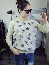 Damen Pullover - Einfach Baumwolle Medium Langarm