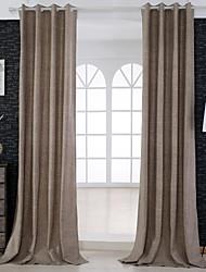 2 шторы Окно Лечение Неоклассицизм , Твердый Гостиная Лен/хлопок материал Шторы портьеры Украшение дома For Окно
