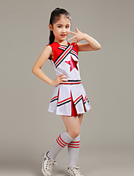 Shall We Cheerleader Costumes Children Western Style Performance Polyester 2 Pieces Outfits