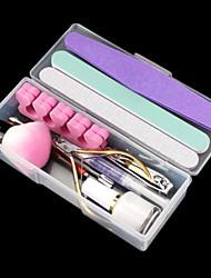 12PCS Nail Art All In Readiness Tool Kit(Random Colour)