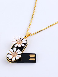 16gb collier marguerite bijoux USB 2.0 Flash rotatif memory stick disque u disque ZP-02