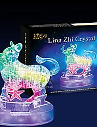Quebra-cabeças Quebra-Cabeças 3D / Quebra-Cabeças de Cristal Blocos de construção DIY Brinquedos Touro 43 ABSModelo e Blocos de