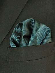 Men's Pocket Square  Green Solid 100% Silk Wedding Business