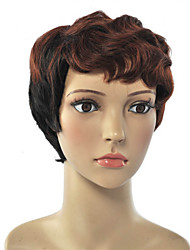 Women's Exquisite Short Style Wave Multi-color Synthetic Wig