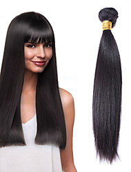 "Cheap Price 1Pcs /Lot 50g 8""-26""Brazilian Virgin Straight Hair Wefts Natural Black 1B# Human Hair Bundles"
