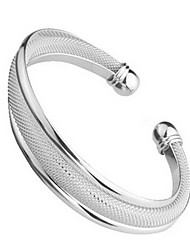 Women's Bracelet Sterling Silver Plated Wide Sample Cuff Bracelet Wedding for Bride