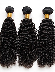 3Pcs Lot Indian Kinky Curly Virgin Hair Unprocessed Human Hair Weave Bundles Indian Deep Curly Wave Natural Black