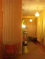 w100cm * l202cm, um painel de cortinas coluna de hastes de bolso linha multicolour lenço borla