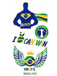 1PC 2016 Brazil The Olympic Games Tattoo Stickers Face Against
