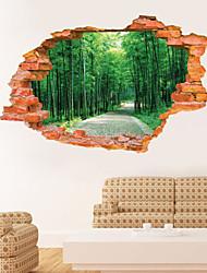 Botânico / Paisagem Wall Stickers Autocolantes 3D para Parede,PVC 60*90CM