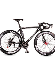 dequilon Aluminium Rennrad 21/18/16 Muskel Machete-Speed-Scheibenbremsen 21-Gang-Version des klassischen schwarzen Sport