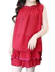 Girl's Red Dress,Floral / Lace Cotton Summer