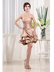 Cocktail Party Dress A-line Sweetheart Short/Mini Satin