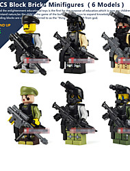 6piece/lot Minifigures Block Bricks Set Models Building Toy For Children Toys Sniper Rifle  Gift Assembly Model