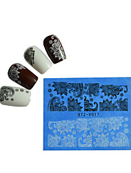1pcs Black New Nails Art  Water Transfer Sticker  Manicure Nail Art Tips  STZV011-020