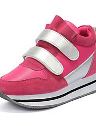 Scarpe Donna-Sneakers alla moda-Tempo libero / Formale / Casual-Comoda-Piatto-Finta pelle-Rosa / Rosso / Grigio
