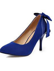 Women's Spring Summer Fall Fleece Wedding Dress Party & Evening Stiletto Heel Black Blue Green